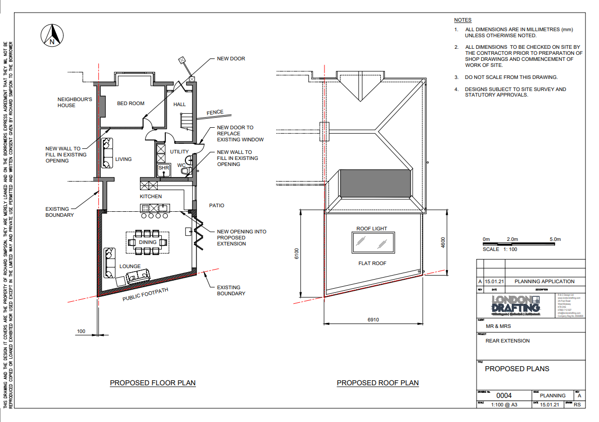 house extension plan