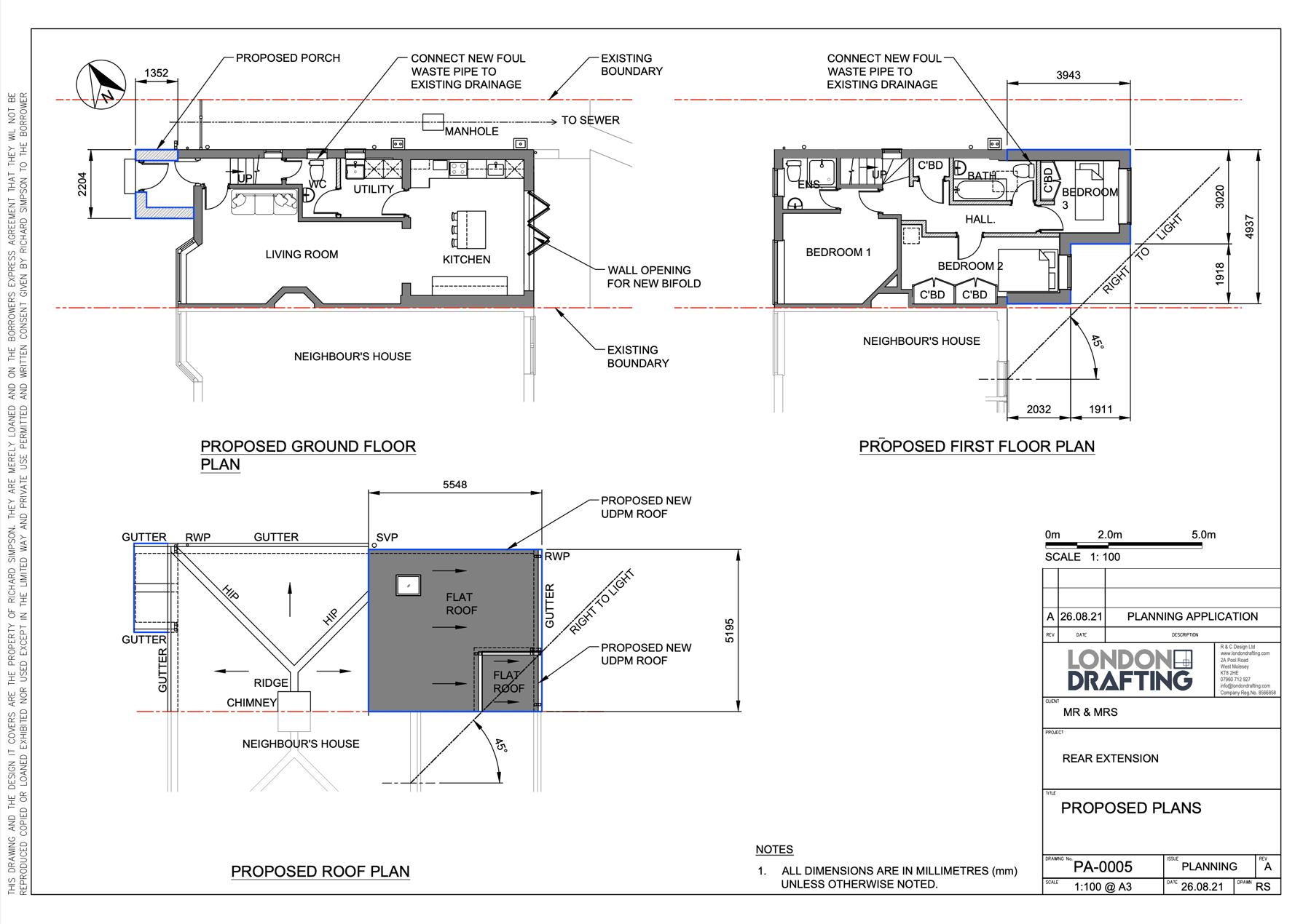 Rear home extension plan