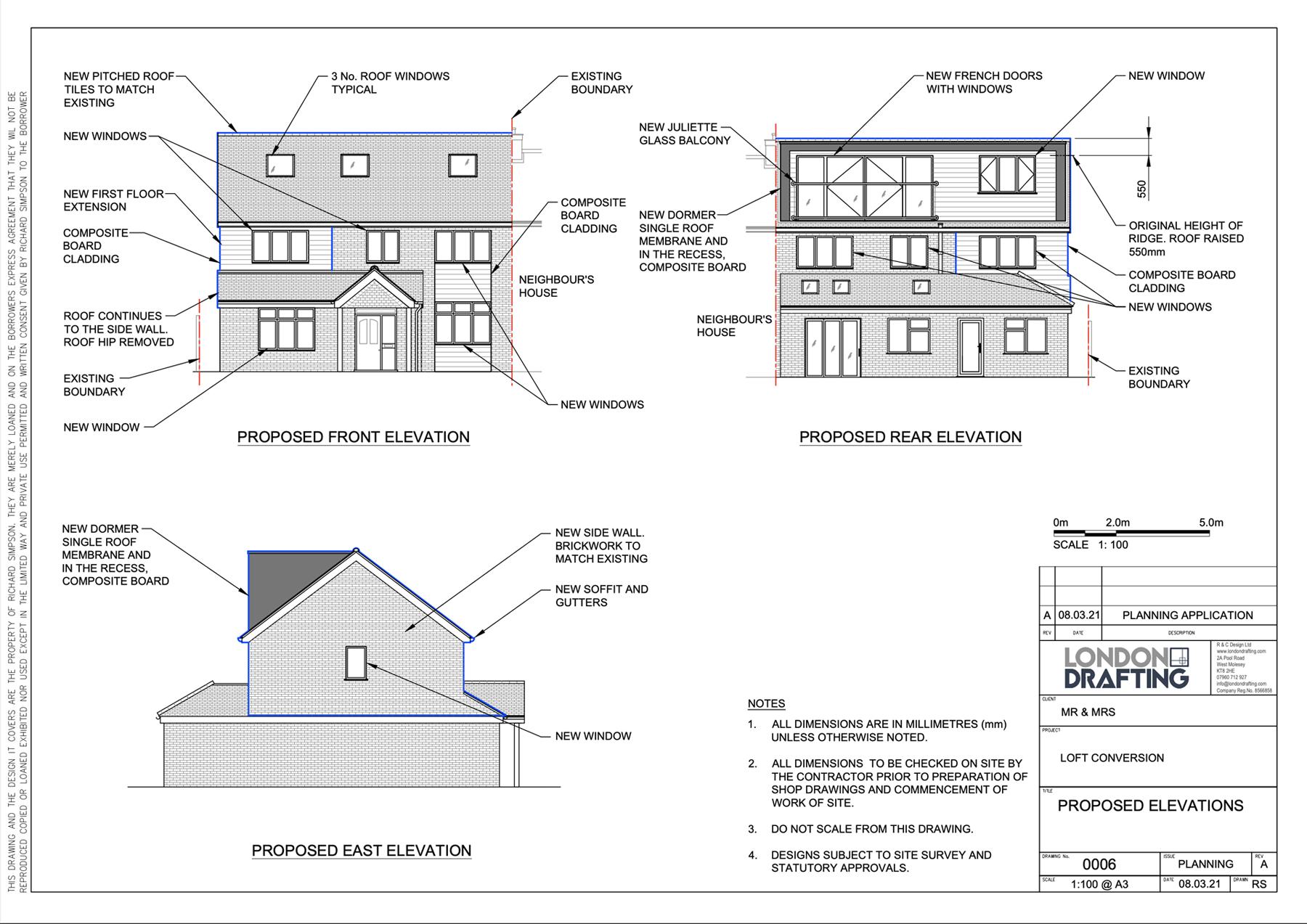 Loft conversion plans drawn