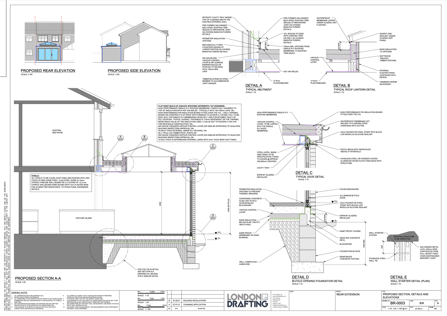 Rear extension plans