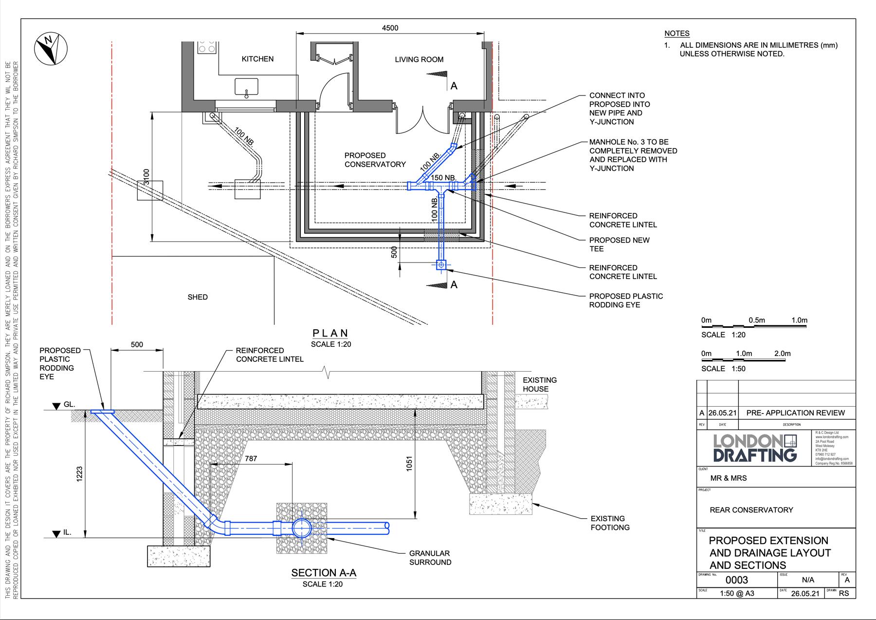 Rear conservatory plan