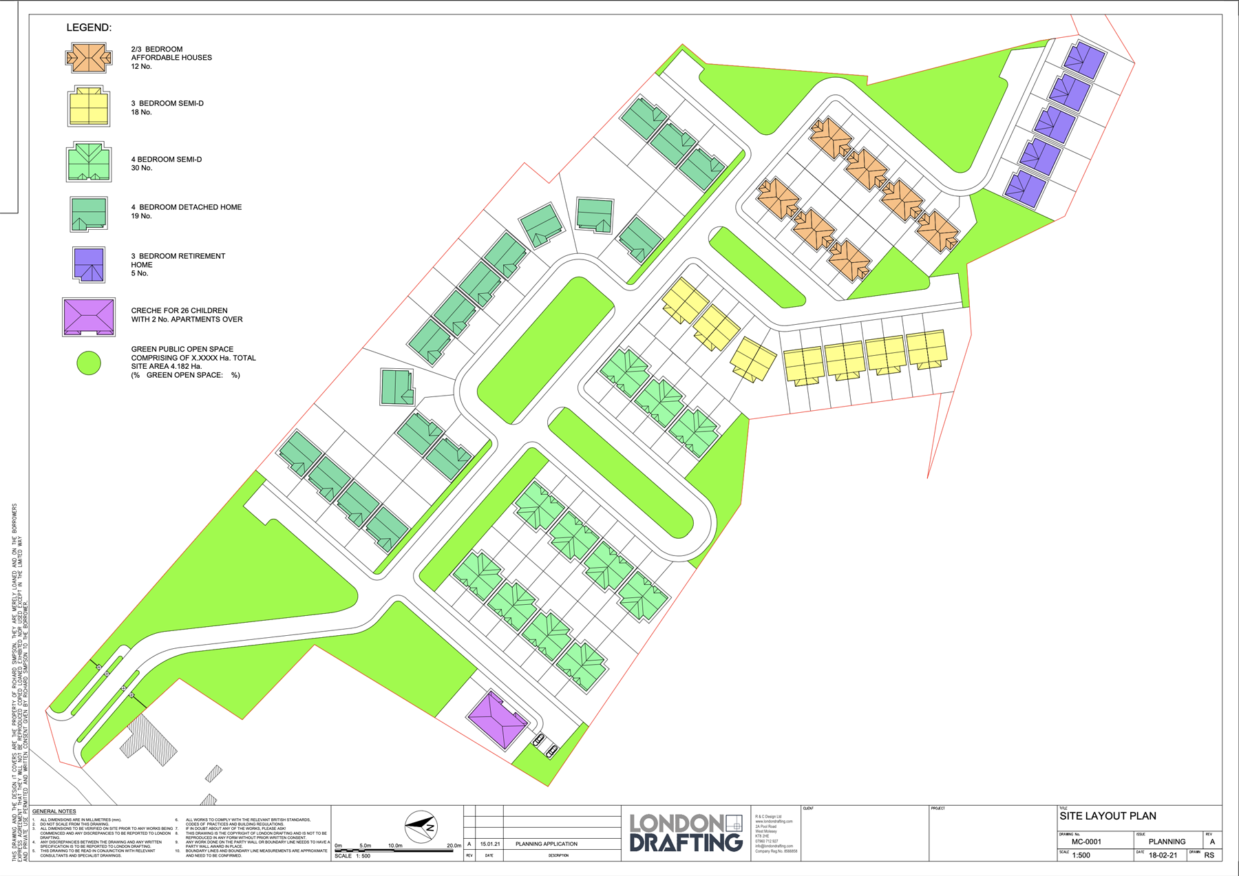 Building site layout plan
